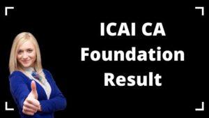 CA Foundation Result 2020